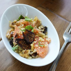 Grain Salad with walnuts and figs