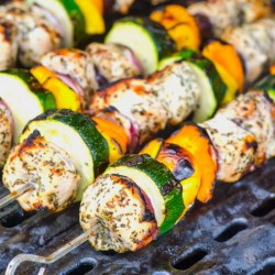 Greek Style Chicken Kebabs