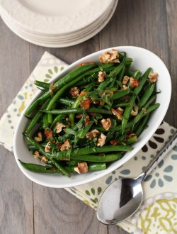 Green Bean with Bacon Vinaigrette