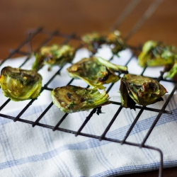 Grilled Artichokes with Parsley Picada Recipe