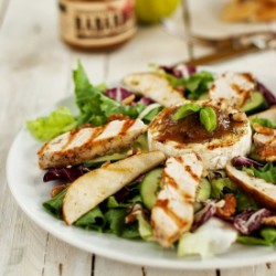 Grilled Camembert Salad
