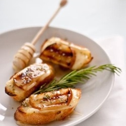 Grilled Pear, Brie