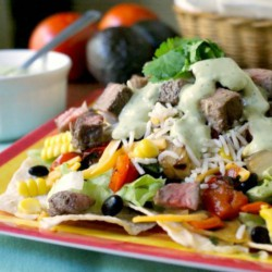 Grilled Steak and Rice Taco Salad