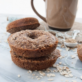 Healthy Cinnamon Raisin Donuts