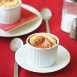 Herbed Manchego Cheese Soufflé
