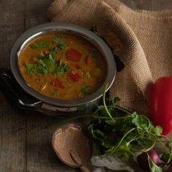 Hyderabadi Bell Pepper Curry
