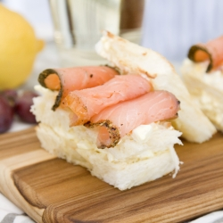 Japanese Egg Salad with Smoked Salmon Sandwich Recipe
