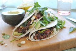 Kidney Bean and Quinoa Soft Tacos