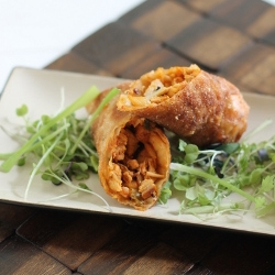 Korean Chicken Kimchee Eggroll