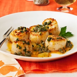 Lemon Caper Scallops