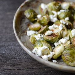 Lemon Feta Roasted Brussels Sprouts Recipe
