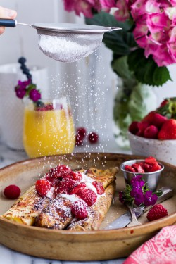 Lemon Ricotta Cheese Stuffed Crepes