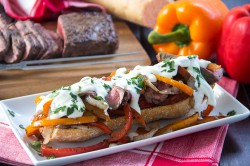 Lightened Up Steak and Cheese Subs