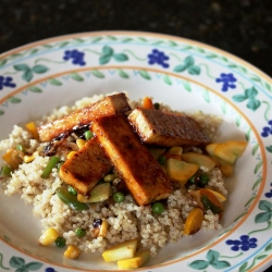 Lime Tofu with Quinoa and Veggies Recipe