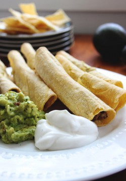 Low Fat Baked Taquitos