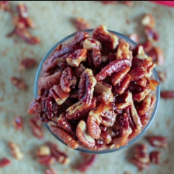 Maple Bacon Roasted Pecans