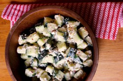 Marinated cucumbers with feta.