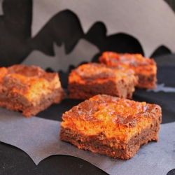Marscapone Ginger Brownies