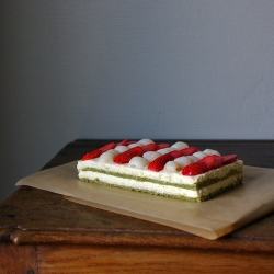 Matcha, White Chocolate Entremet
