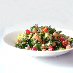 Mediterranean Toasted Quinoa Salad Recipe
