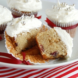 Mince Pie Cupcakes with Brandy Butter