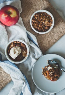 Mini Brown Butter Apple Crumbles