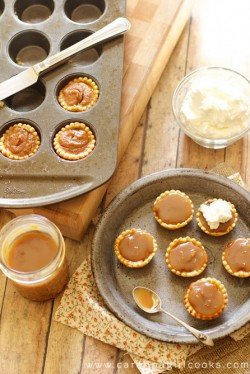 Mini Chocolate Bourbon Caramel Pumpkin Pies Recipe