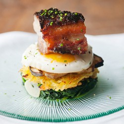 Miso Pork Belly Stack