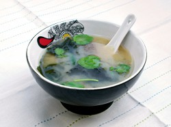 Miso Soup with Watercress