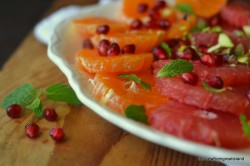 Mixed Citrus Salad with Pomegranate Pistachio and Mint Recipe