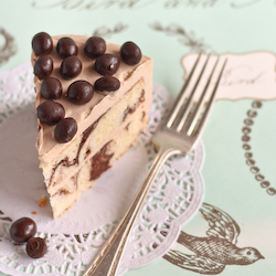 Mocha Marble Cake with Coffee Beans