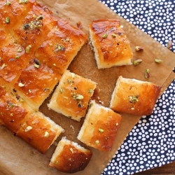 Mutabbaq Sweet Feta and Ricotta Cheese Bread Recipe