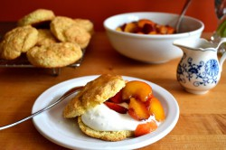 Nectarine Shortcakes with Caramel