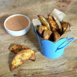 Old Bay Roasted Potato Wedges