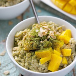 OVERNIGHT MATCHA STEEL CUT OATS