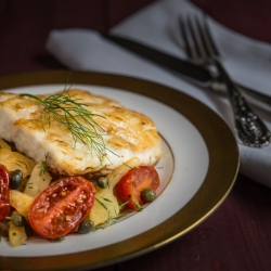 Pan Seared Snapper with Fennel Tomatoes and Capers Recipe