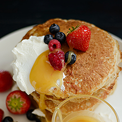 Pancakes with Berries and Honey Recipe