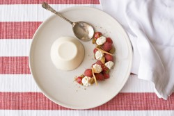 Panna Cotta with Raspberry