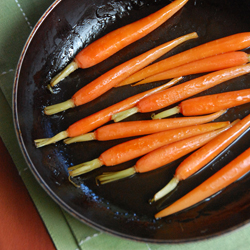 Pan-Roasted Maple Carrots
