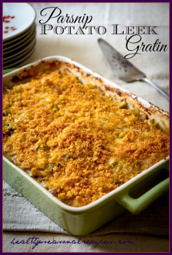 Parsnip Potato and Leek Gratin Recipe