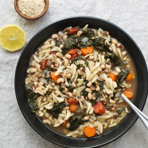 Pasta and Beans Soup with Kale