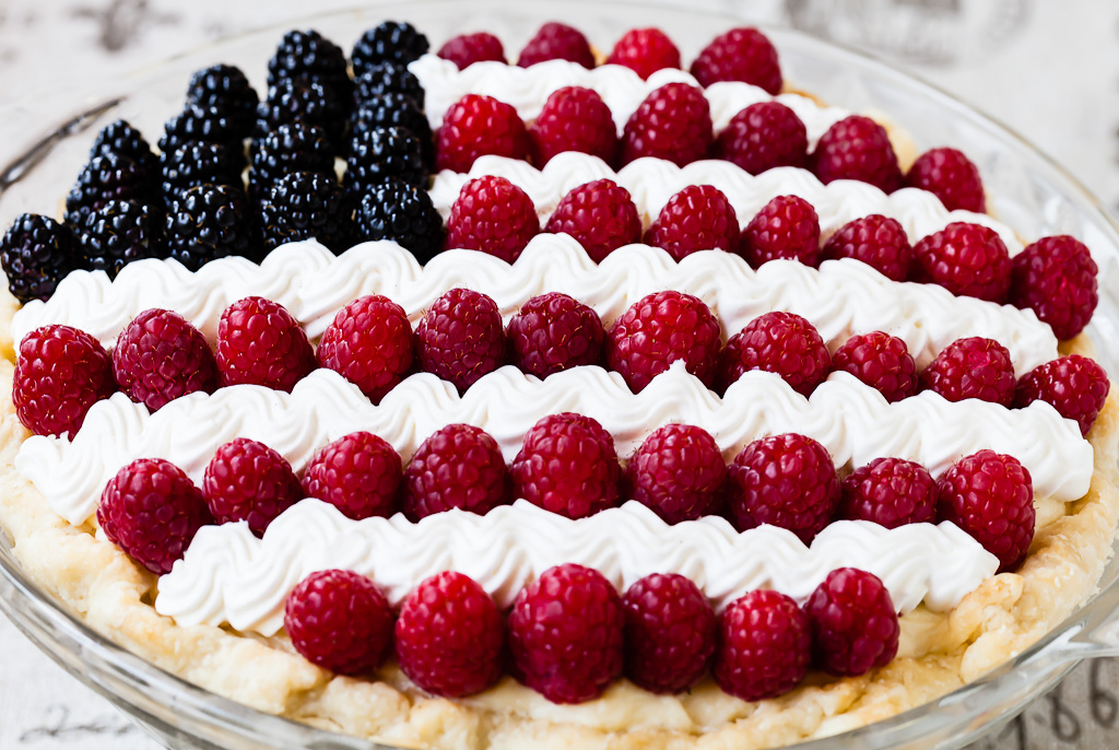 Patriotic Fourth of July Pie
