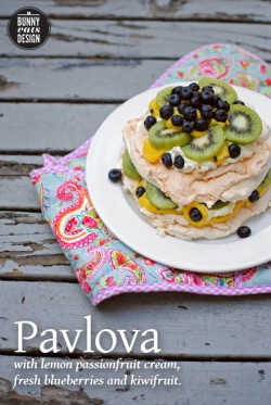 Pavlova w/ Lemon Passionfruit Cream