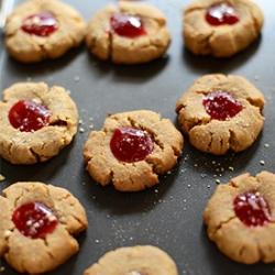Peanut Butter and Jelly Graham Thumbprints Recipe