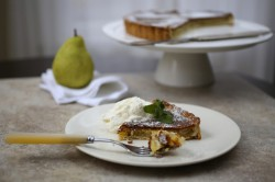 Pear Ginger Custard Tart Recipe