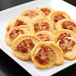 Pepperoni and Asiago Pinwheels