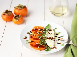 Persimmon Caprese with Burrata Recipe