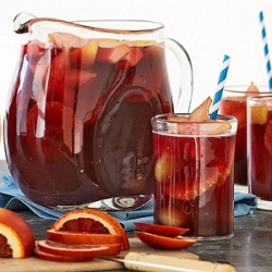Pomegranate Sangria Mocktail