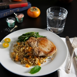 Pork Chop with Fregola Sarda
