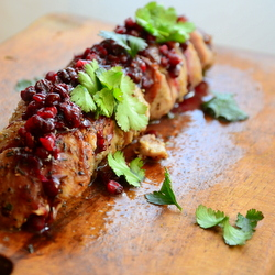 Pork Loin with Cranberry Sauce Recipe